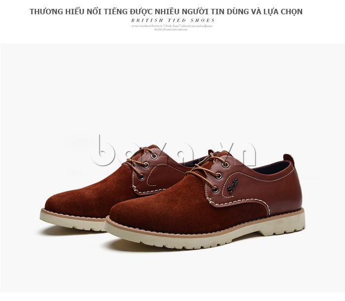 Giày da nam Simier 8118 màu sắc trẻ trung