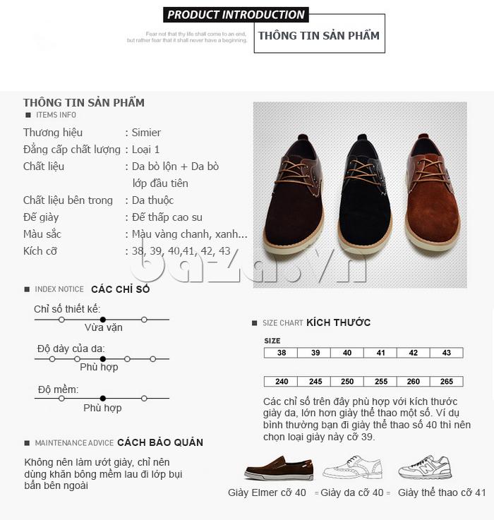 Thông tin sản phẩm Giày da nam Simier 8118