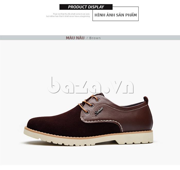 Giày da nam Simier 8118 phong cách cá tính