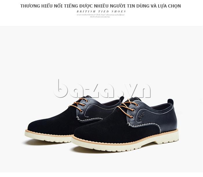 Giày da nam Simier 8118 phong cách thời trang Anh quốc