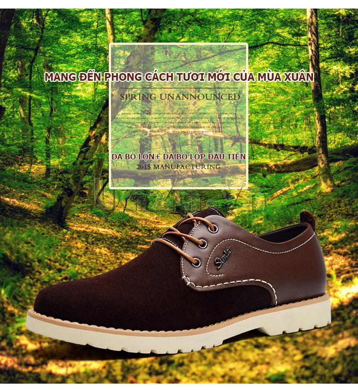 Giày da nam Simier 8118 - chất liệu thời thượng