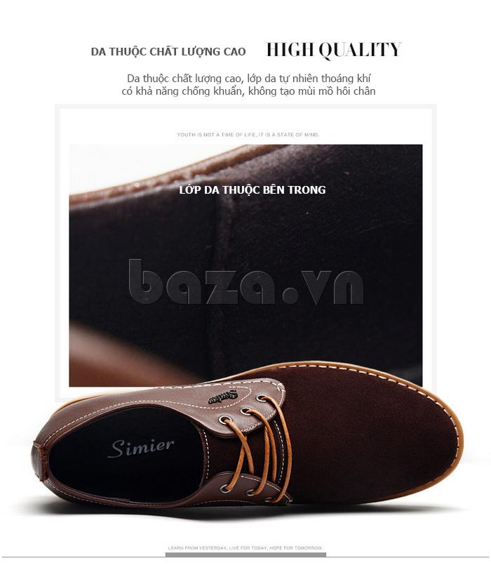 Giày da nam Simier 8118 năng động và phong cách