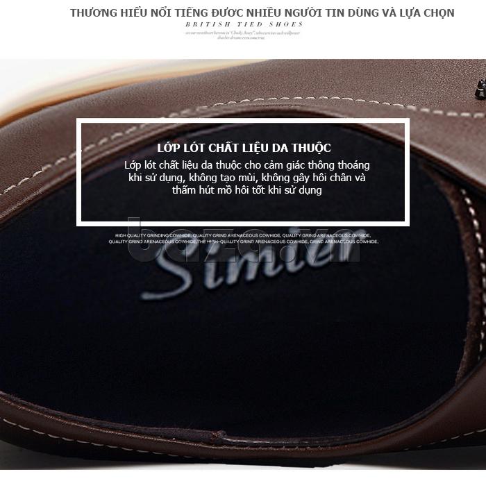 Giày da nam Simier 8118 - lớp lót da thuộc hoàn hảo