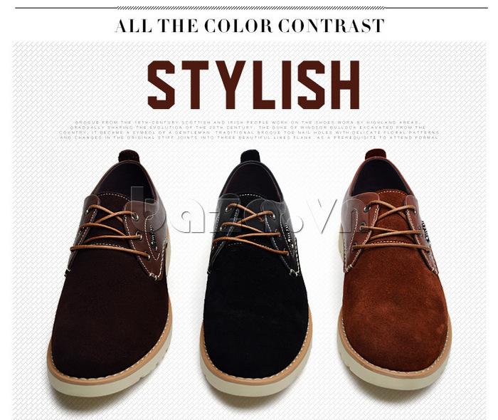 Giày da nam Simier 8118 những gam màu cá tính