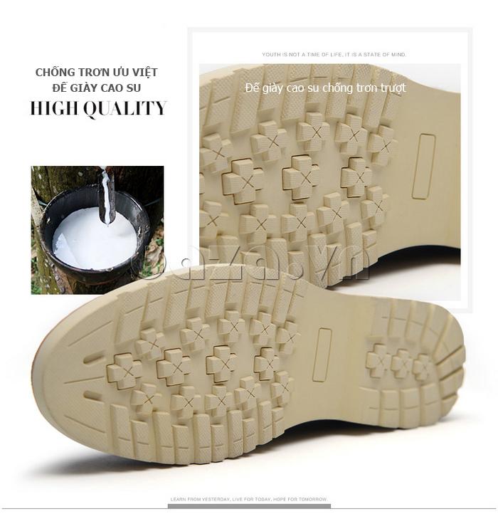 Giày da nam Simier 8118 đế cao su cao cấp