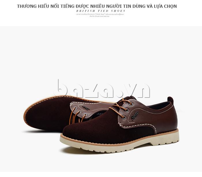 Giày da nam Simier 8118 thương hiệu được tin dùng