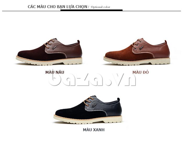 Giày da nam Simier 8118 màu sắc đa dạng