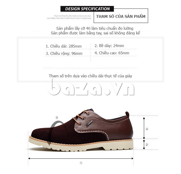 Giày da nam Simier 8118 hoàn hảo từng chi tiết