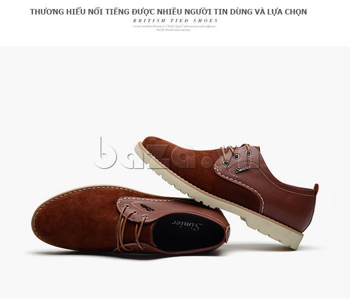 Giày da nam Simier 8118 chất liệu da cao cấp