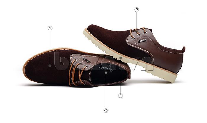 Giày da nam Simier 8118 nâng niu đôn bàn chân bạn