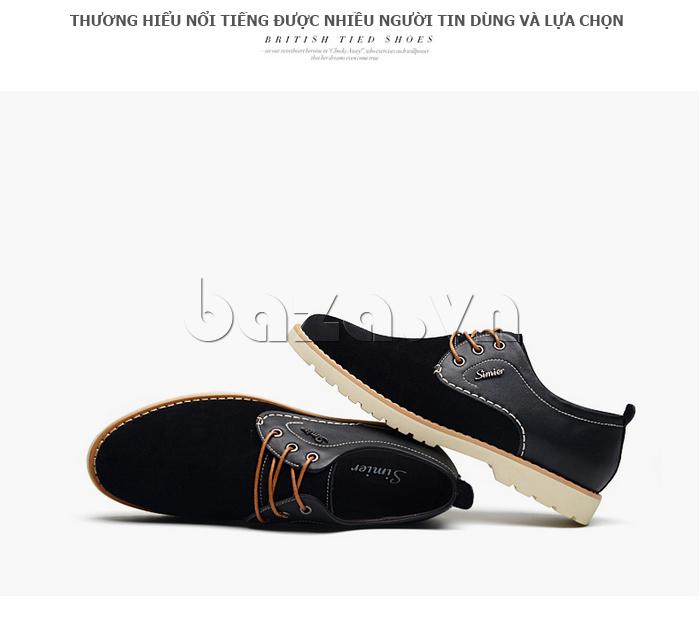 Giày da nam Simier 8118 thương hiệu quốc tế