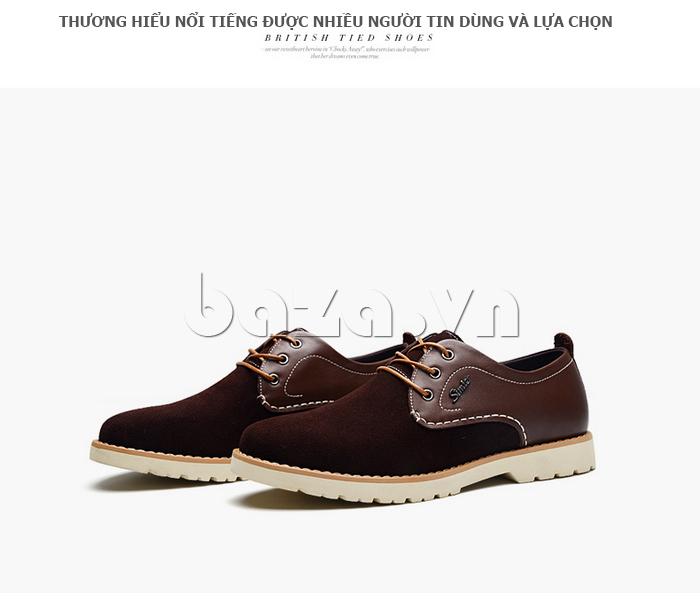 Giày da nam Simier 8118 mạnh mẽ và cá tính