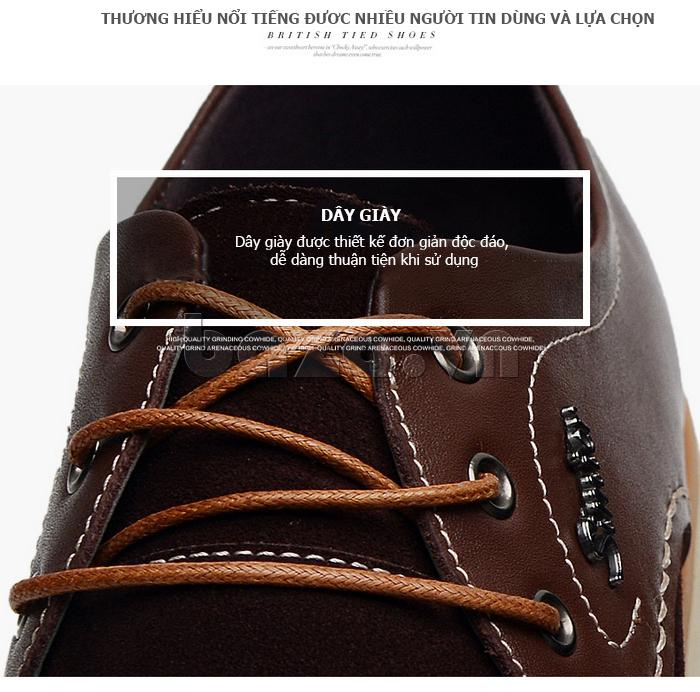 Giày da nam Simier 8118 - dây buộc tròn chắc chắn