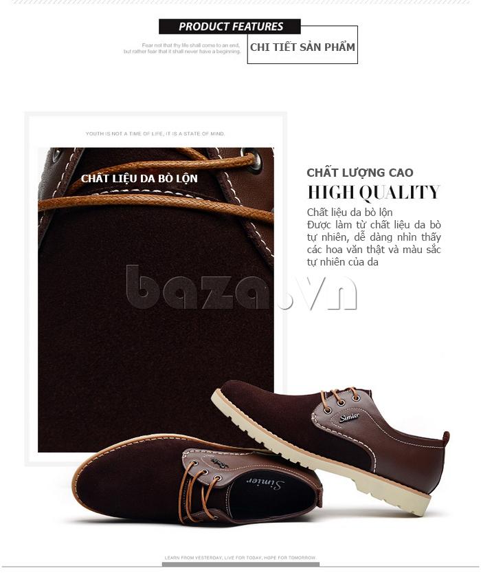 Giày da nam Simier 8118 trang nhã và thanh lịch