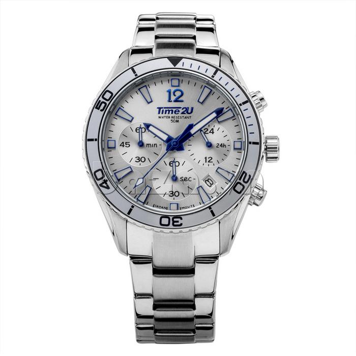 Đồng hồ nam Time2U 931892631001 màu trắng