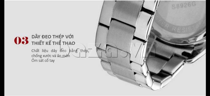 Đồng hồ nam Time2U 931892631001 dây đeo thép với thiết kế thể thao