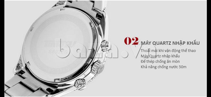 Đồng hồ nam Time2U 931892631001 sử dụng máy quartz nhập khẩu