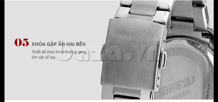 Đồng hồ nam Time2U 931892631001 khóa gập ấn hai bên