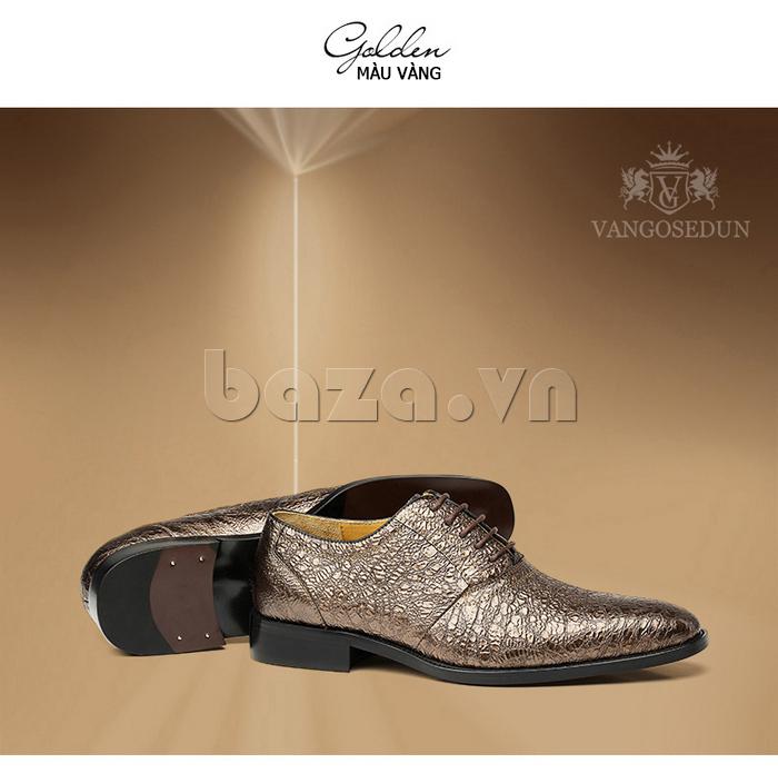 Giày da nam VANGOSEDUN VG78803 mũi nhọn thời thượng sành điệu