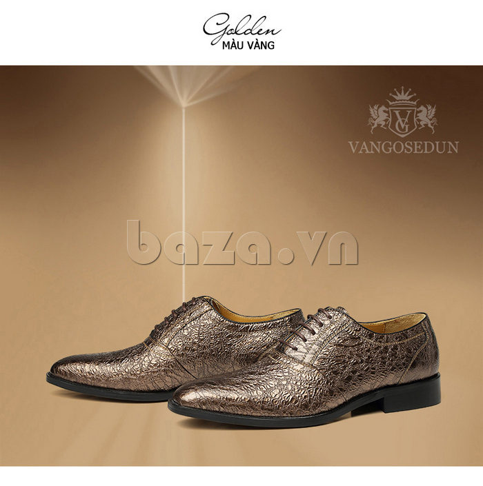 Giày da nam VANGOSEDUN VG78803 mũi nhọn thời thượng ấn tượng trẻ trung