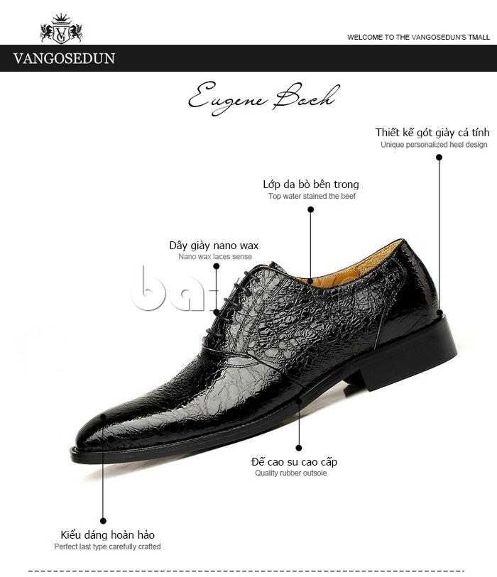 thông tin của giày nam VANGOSEDUN VG78803 mũi nhọn thời thượng
