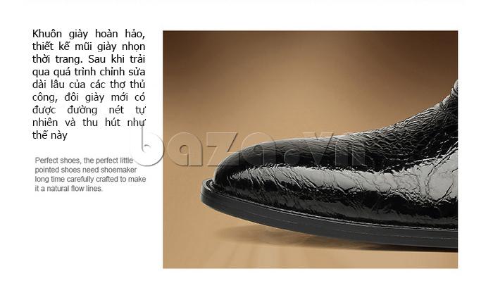 Giày da nam VANGOSEDUN VG78803 khuôn giày hoàn hảo