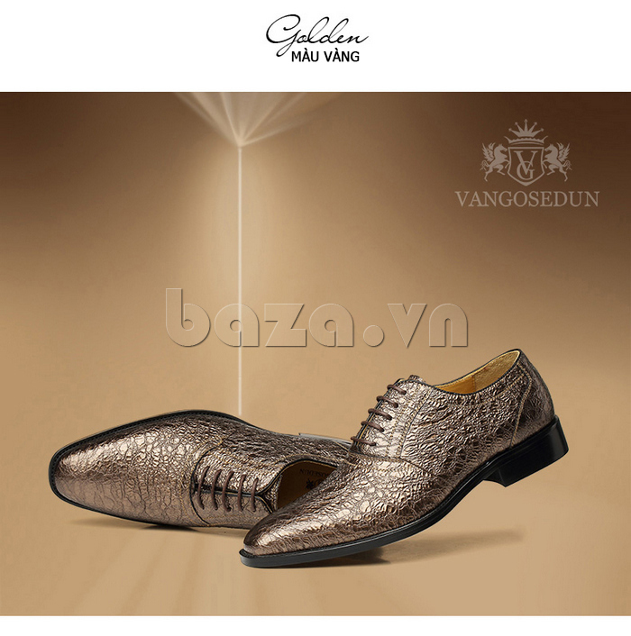 Giày da nam VANGOSEDUN VG78803 mũi nhọn thời thượng cá tính lịch lãm