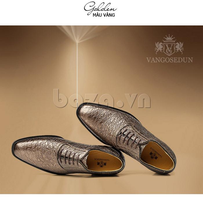 Giày da nam VANGOSEDUN VG78803 mũi nhọn thời thượng thời trang đẳng cấp