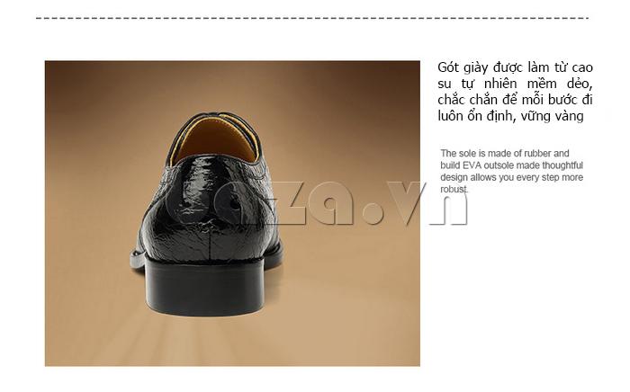 Giày da nam VANGOSEDUN VG78803 đế cao tôn dáng