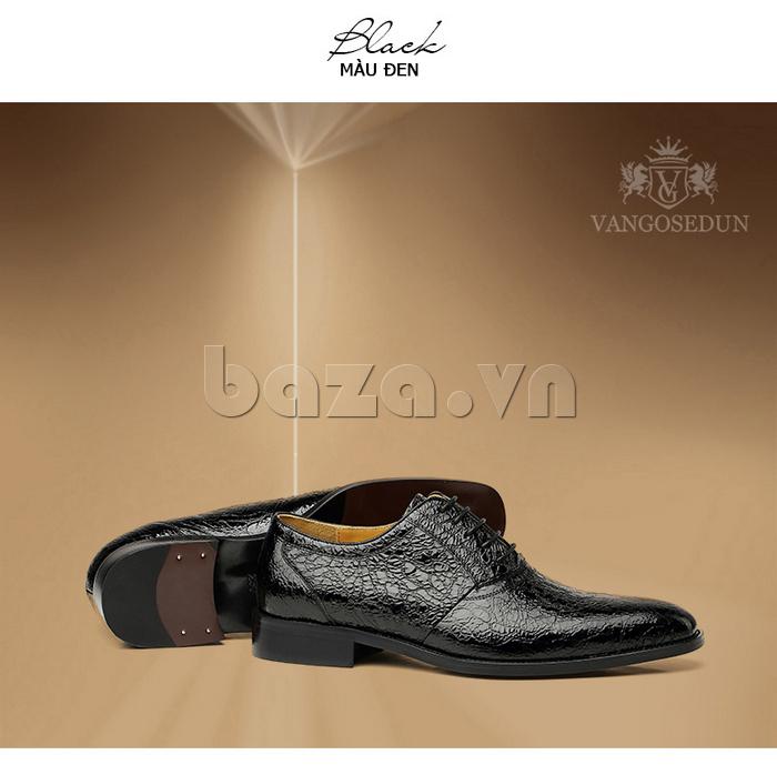 Giày da nam VANGOSEDUN VG78803 mũi nhọn thời thượng dễ phối trang phục