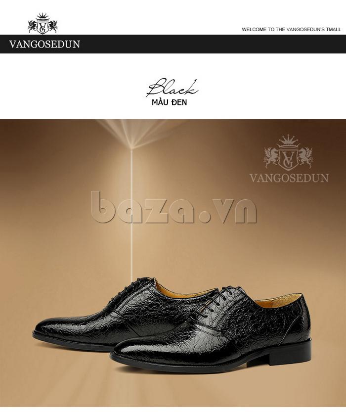 Giày da nam VANGOSEDUN VG78803 mũi nhọn sang trọng bắt mắt