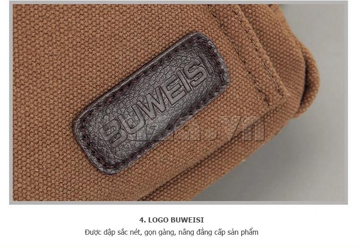Ba lô du lịch nam Buweisi S032 - logo thương hiệu nổi bật