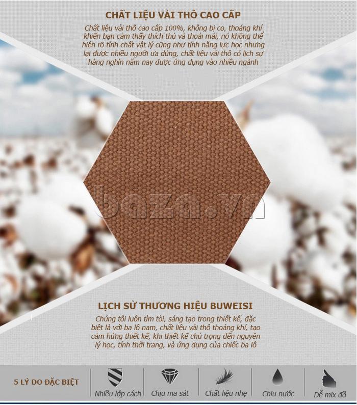 Lịch sử thương hiệu của sản phẩm Ba lô du lịch nam Buweisi S032