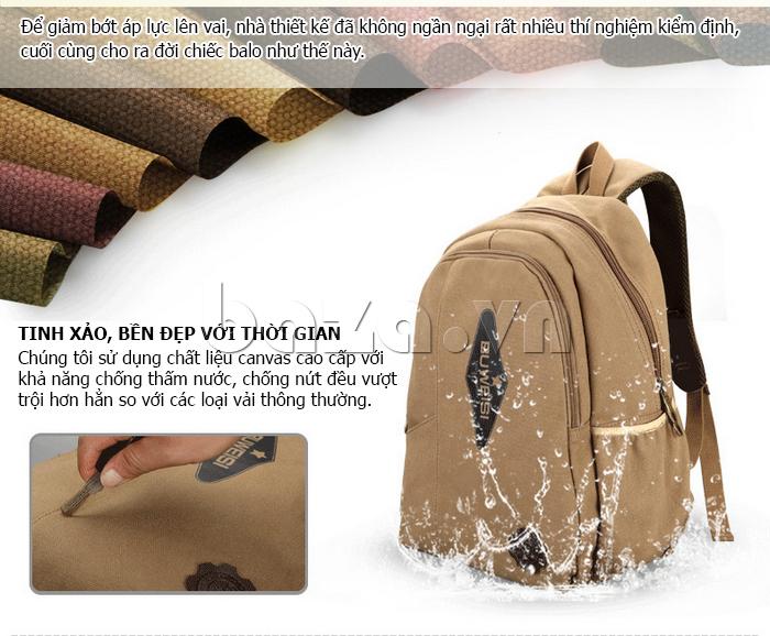 Balo vải nam Feger S039 dây đeo đệm bông lạ