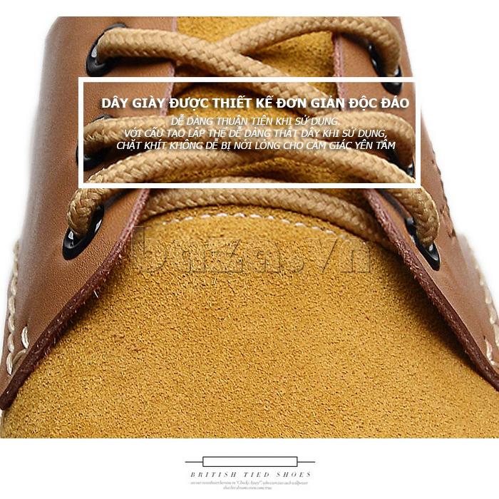 Giầy da nam thủ công Simier 8105 - dây giày bền đẹp