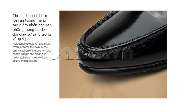 Giày lười nam VANGOSEDUN K01701 trang trí tỉ mỉ