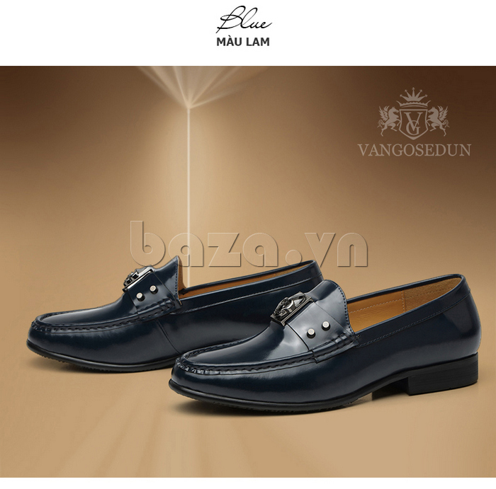 Giày lười nam VANGOSEDUN K01701 thiết kế có đai ấn tượng