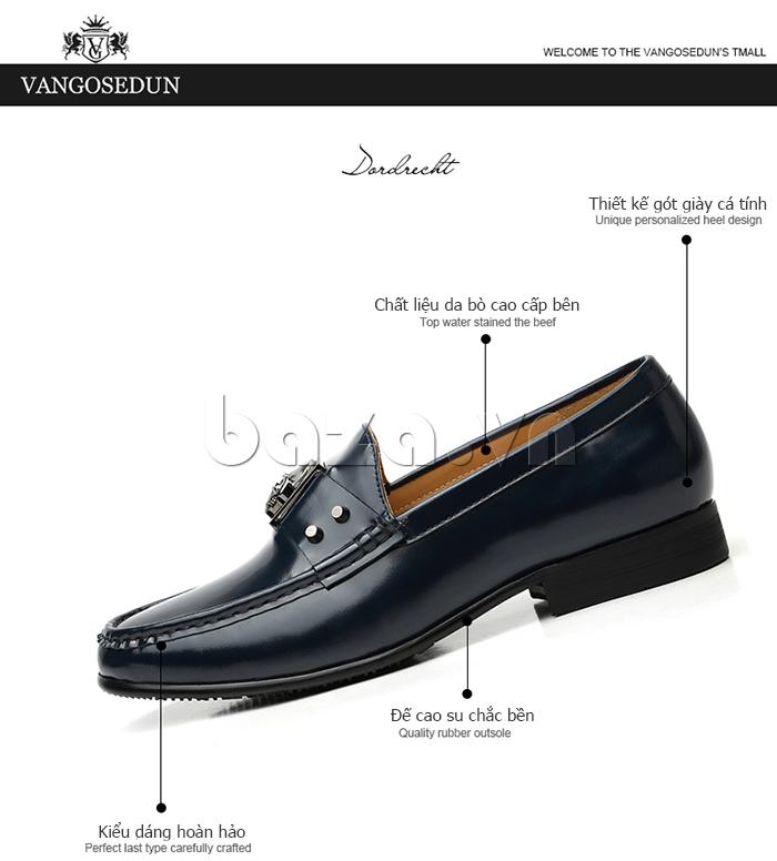 Giày lười nam VANGOSEDUN K01701 chất lượng bền đẹp