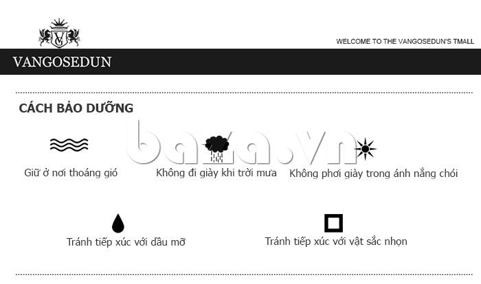 Cách bảo dưỡng cho giày lười nam VANGOSEDUN K01701