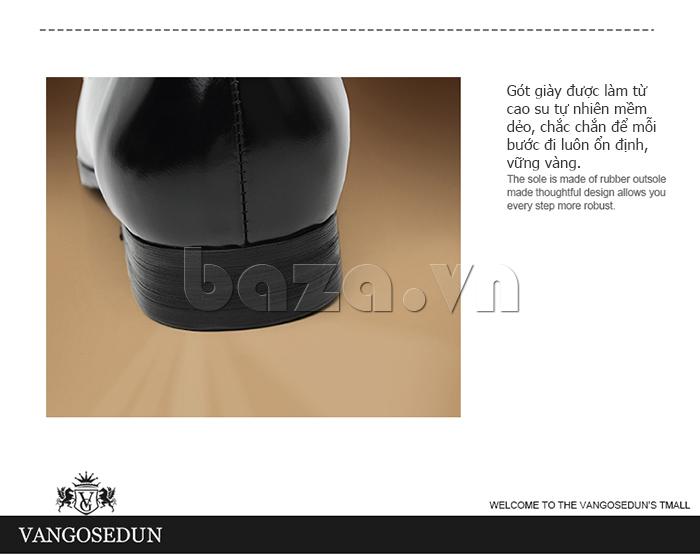 Giày lười nam VANGOSEDUN K01701 đế cao tôn dáng