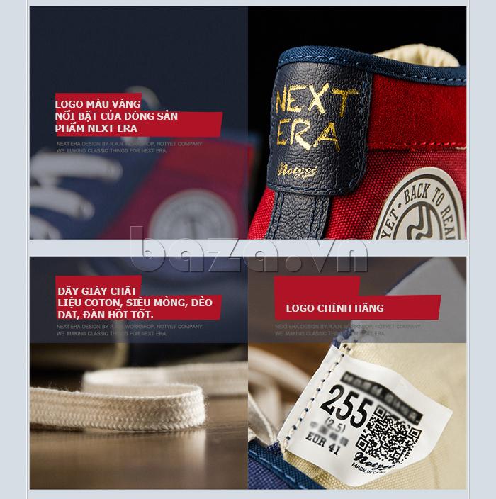 Dây của Giày vải nam Notyet NY-ZY4154 được làm từ cotton mềm mịn