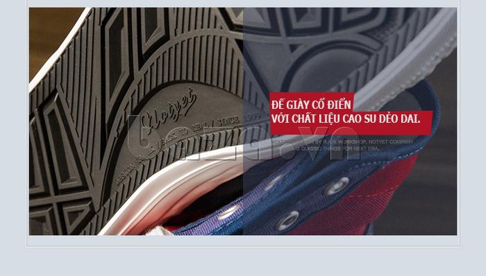 Giày vải nam Notyet NY-ZY4154 được thiết kế đế giày kiểu cổ điển