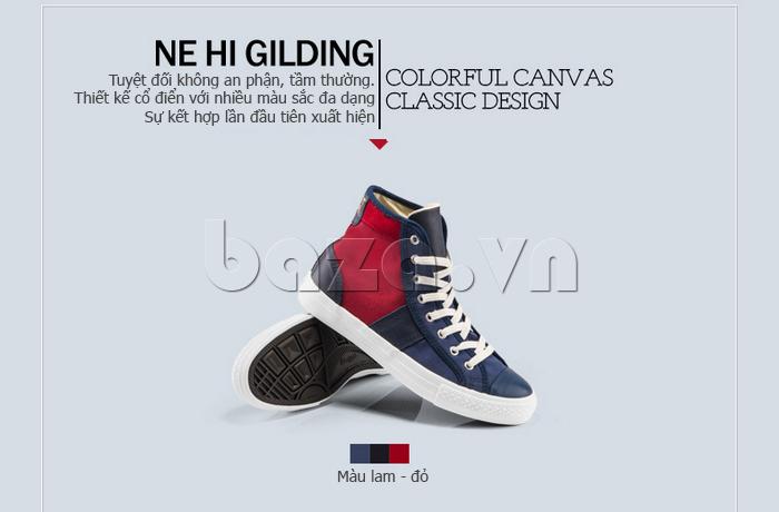 Giày vải nam Notyet NY-ZY4154 màu đỏ xanh sang trọng và trẻ trung