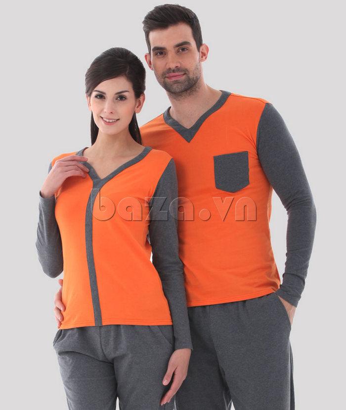 Bộ đồ ngủ dài tay Owzza A2D02 - phong cách trẻ trung