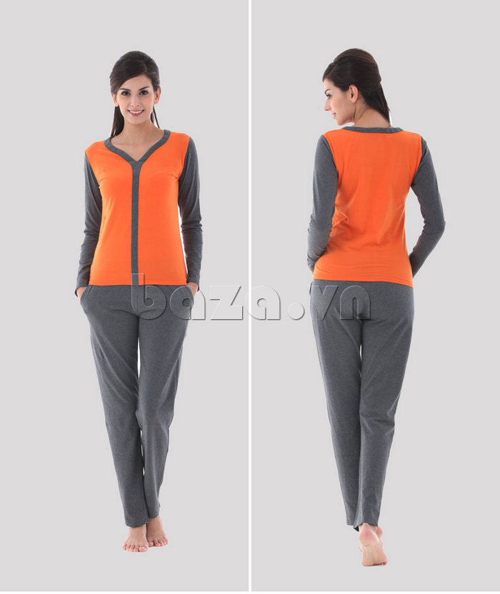 Bộ đồ ngủ dài tay Owzza A2D02 phong cách