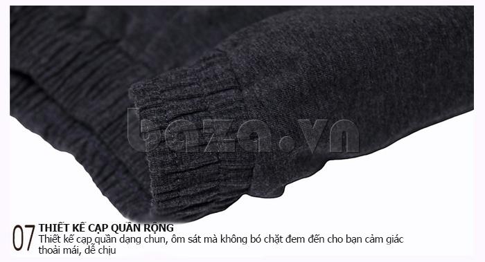Bộ đồ ngủ dài tay Owzza A2D02 cạp chun hiện đại