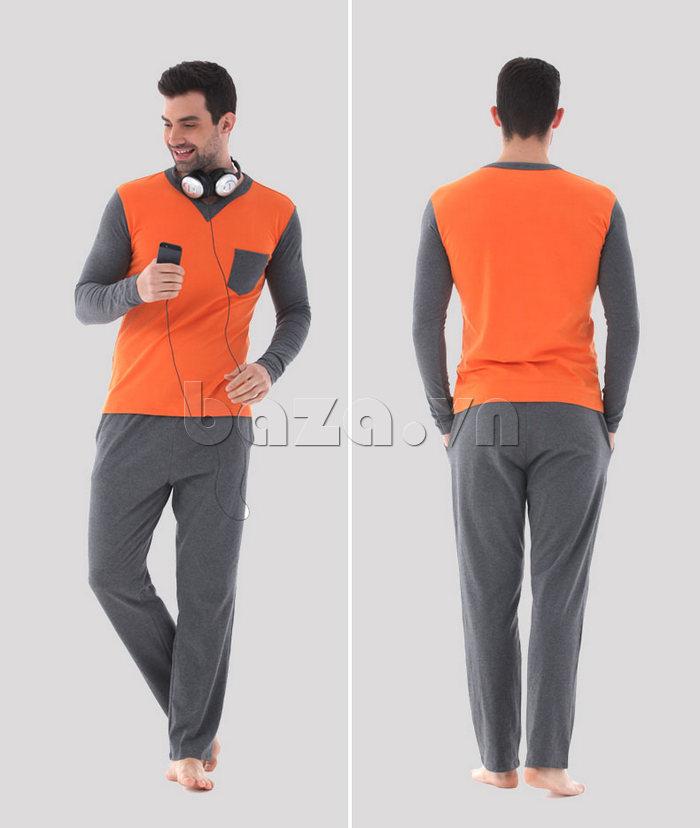 Bộ đồ ngủ dài tay Owzza A2D02 cá tính