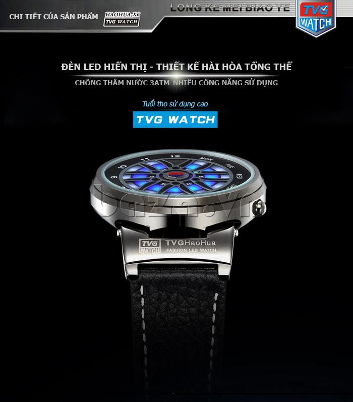 Đồng hồ nam TVG TVGX6 Mặt số ấn tượng