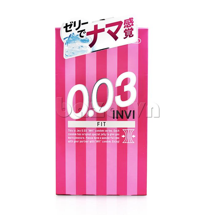 Bao cao su siêu mỏng Jex Invi 003 Fit