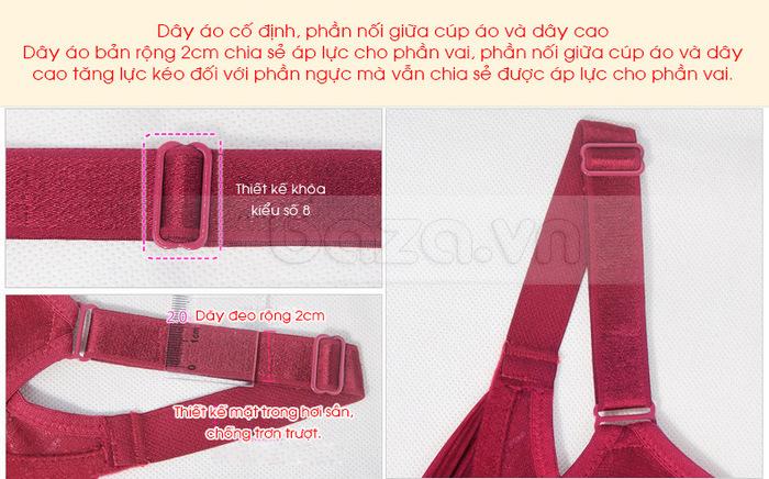 Bộ đồ lót nữ chất liệu ren cao cấp XZYD dây áo mềm mại, dẻo dai